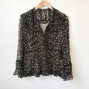 Anthropologie Love Sam Sheer Blouse Size Large